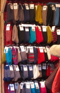 Socks at the Holiday Market