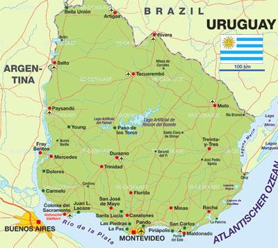 uruguay wine regions map